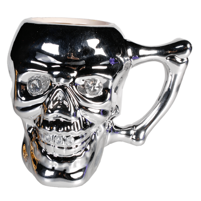 Mug, Skull with crystal stones, [78/8120] - Out of the