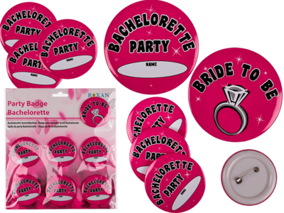 Ansteckbutton, Bachelorette-Party, D: ca. 6 cm,