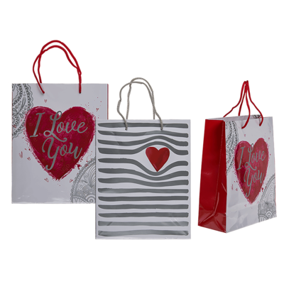 Borsa da regalo in carta, cuore,