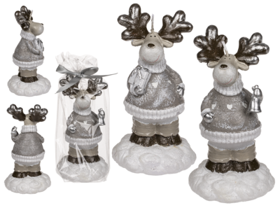 Brown/white Candle, deer,