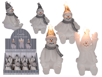 Candle, Snowman,
