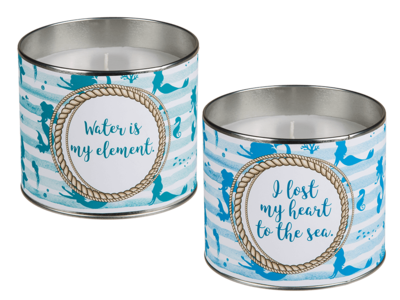 Candle in zinc pot, Mermaid,