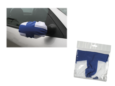 Car side mirror flag with rubber string,