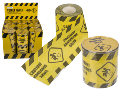 Carta igienica, Caution! Dangerous Gases,