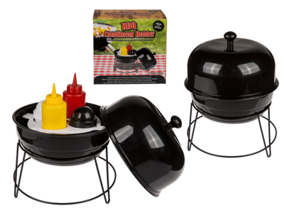 Condiment holder, kettle BBQ,