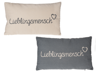 Decoration Cushion, Lieblingsmensch,