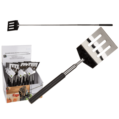 Extendable Stainless Steel BBQ & frying pan,
