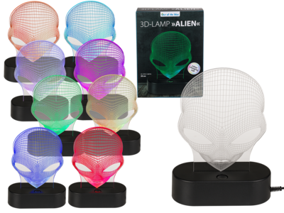 Lampe 3D, Extraterrestre,