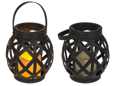 Lantern with handle, LED candle & Timer,