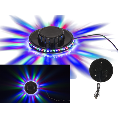 Luz Disco LED, con 48 LED (RGB), 3 W,