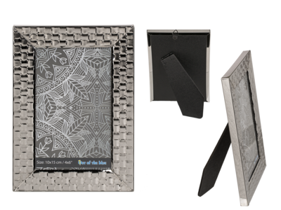 Metal photo frame, Silver Square,