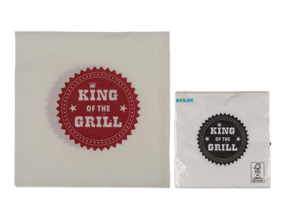 Paper Napkins, King of the grill,