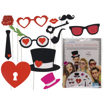 Party photo accessories on stick,