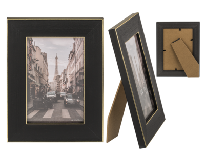 Photo frame, Black & Gold,