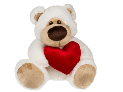 Plush bear with red heart, Big Love,