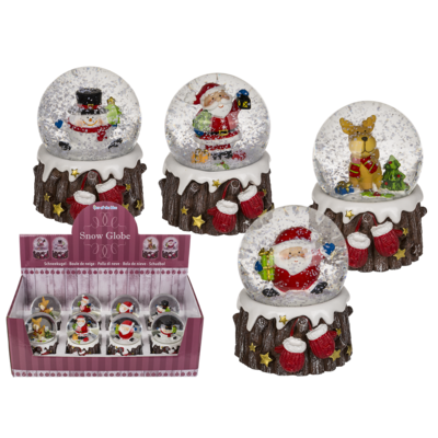 Polyresin snow globe, christmasfigure,