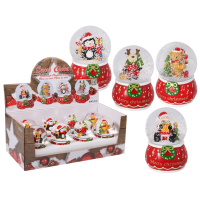 Polyresin Snow Globe, Christmasfigures,
