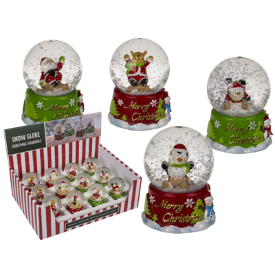 Polyresin snow globe, Merry Christmas,