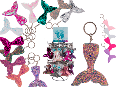 Sequin & glitter key Hanger, Mermaid,