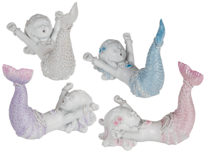 Waking Up Polyresin Mermaid with Glitter,