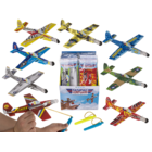 Airplane with rubber band starter,