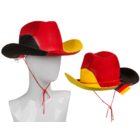 Cowboy hat, with cord, German Flag,