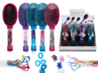 Hairbrush with accessories in handle,