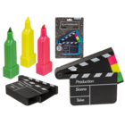 Highlighter, Clapperboard,