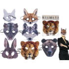 Mask for adults, animal faces,