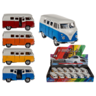 Model car with pull back, VW T1 Bus 1963,