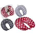 Neck cushion with micro pellet filling, Dots,