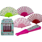 Plastic fan, flamingos,