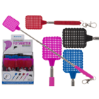 Plastic key chain, extandable fly swatter,