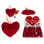 Red plush heart , Je t' aime,