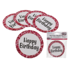 Round paper coaster, Happy Birthday,