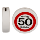 Salvadanaio con Happy Birthday 50,