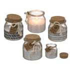 Scented candle (fresh cotton) in glass,