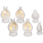 Sitting polyresin angel in wings with warmwhite,