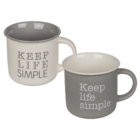 Tazza New Bone China, Keep life simple