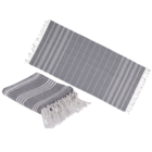 White/grey coloured Fouta Towel (for sauna &,